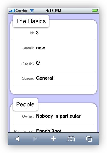 Screenshot: mobile UI on iPhone
